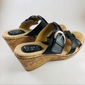 BOC Black Buckled Sandals